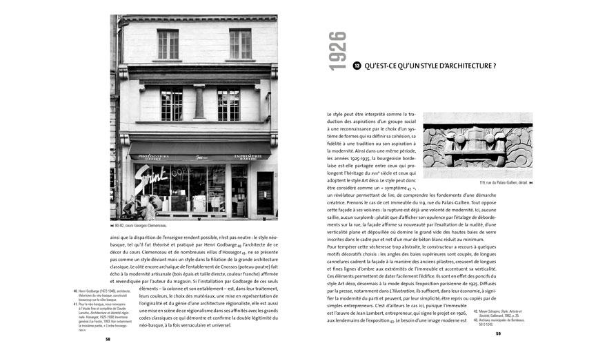 """Extrait de """"Bordeaux l'architecture et son double"""" de Marc Saboya - Éditions Le Festin"""